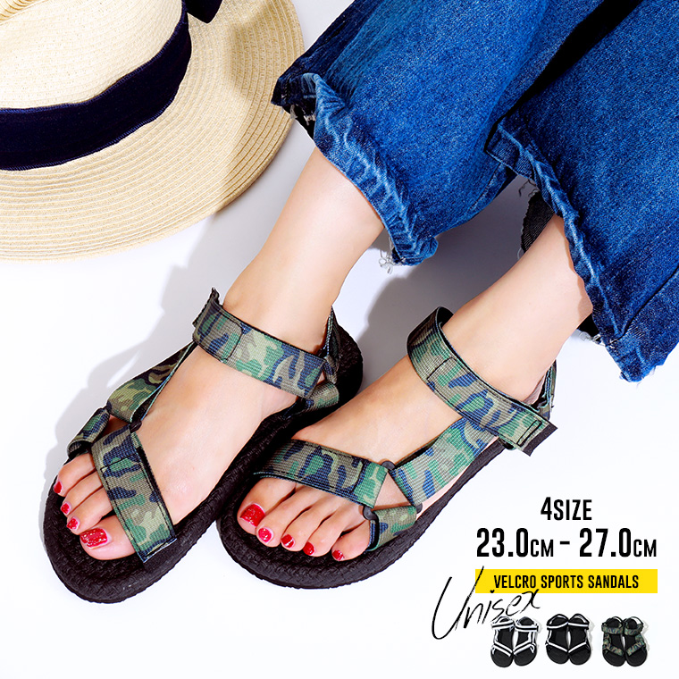 Sports Sandals Lady S Walk Breathe Men Beach Sandal Black White スポサンpattern Camouflage Uni Comfort