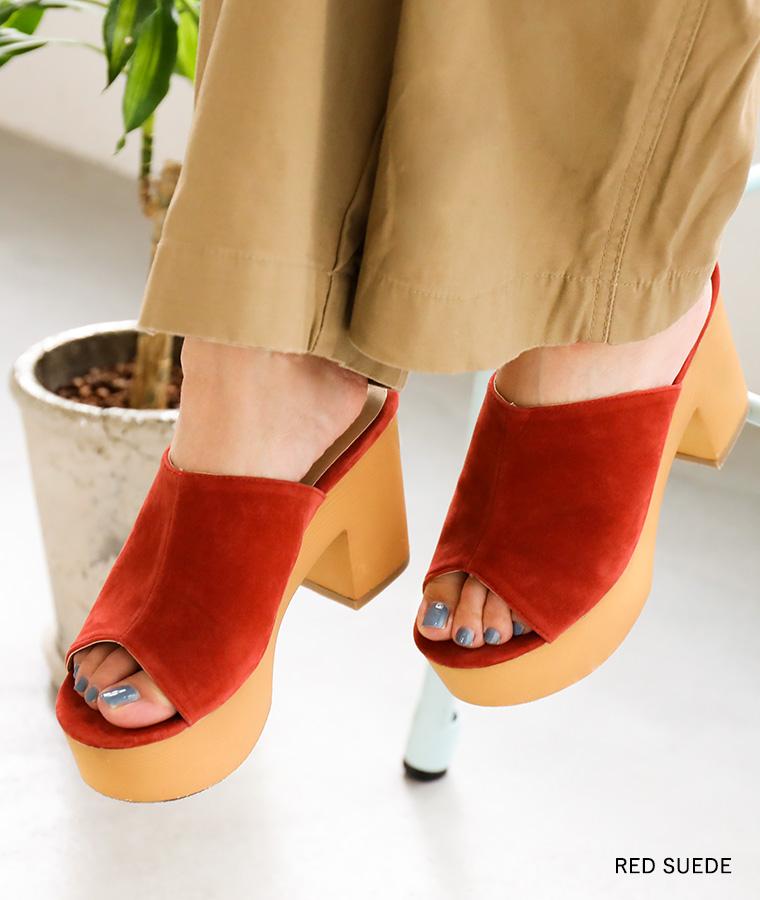 サボサンダル レディース オープントゥ レディース靴 厚底ウェッジ ヒール サボ ウェッジソール 春 夏 Fashionletter