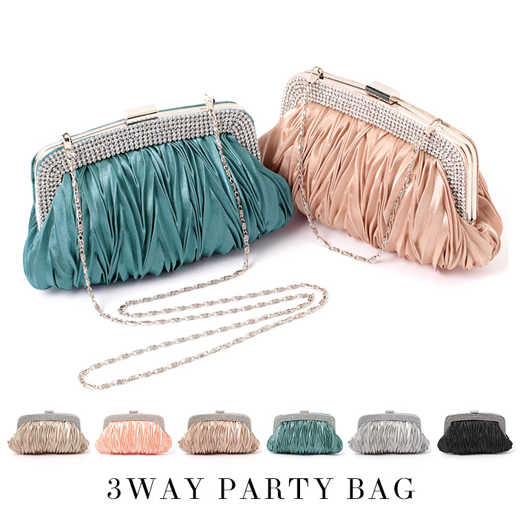Party Bag Large Las Clutch Wedding Invited Formal 3 Way Ceremony Graduation Entrance