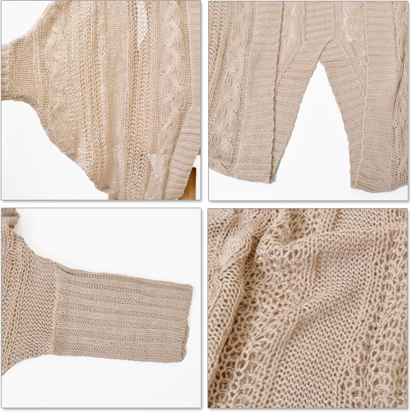 UV Cardigan Dolman sleeve Cardigan Cardigan Cardigan key crochet watermark 2way adult cute long sleeve UV kalabari rich coat solid color women's fall clothes ( fall)