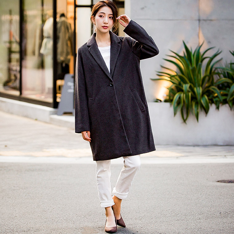 8f84b4c4c428e ... Chester court ladies clothing winter Chester coat long coat autumn  clothes winter wear her grey camel ...