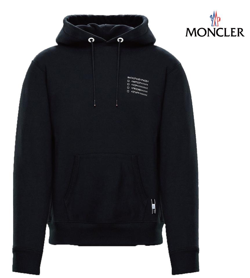 MONCLER モンクレール 7 MONCLER FRAGMENT HIROSHI FUJIWARA SWEAT-SHIRT スウェット パーカー メンズ ブラック 2018-2019年秋冬