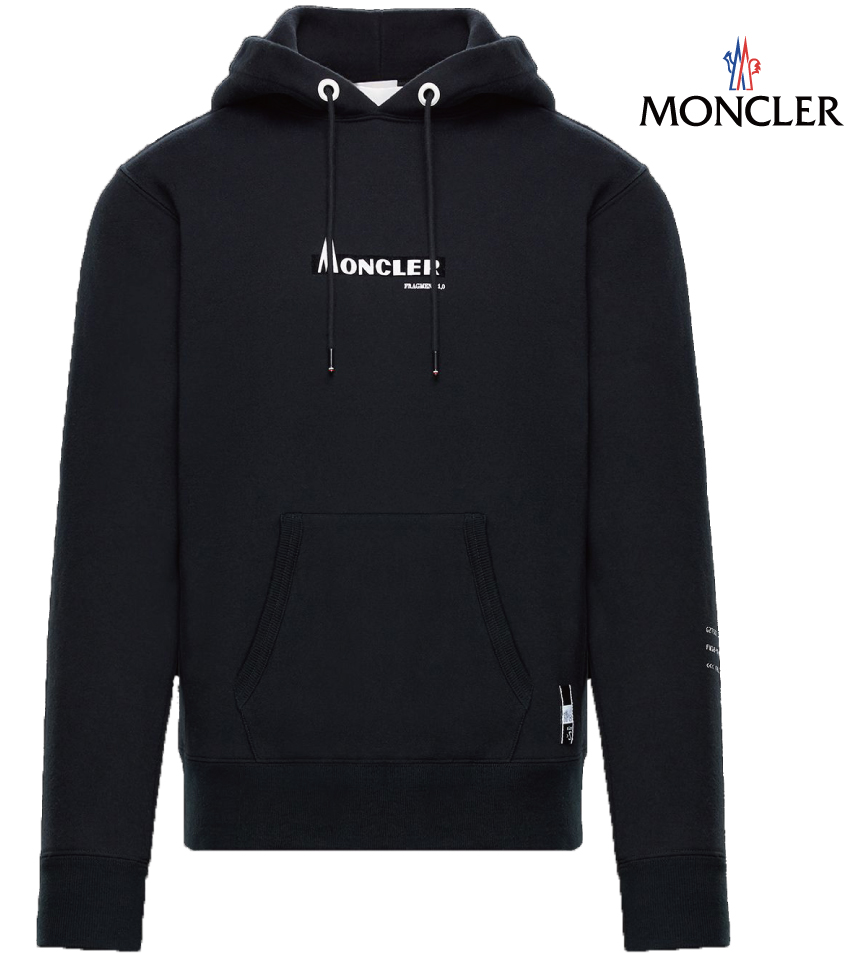 MONCLER モンクレール 7 MONCLER Fragment Hiroshi Fujiwara SWEAT-SHIRT Genius コレクション スウェット パーカー メンズ ブラック 2018-2019年秋冬