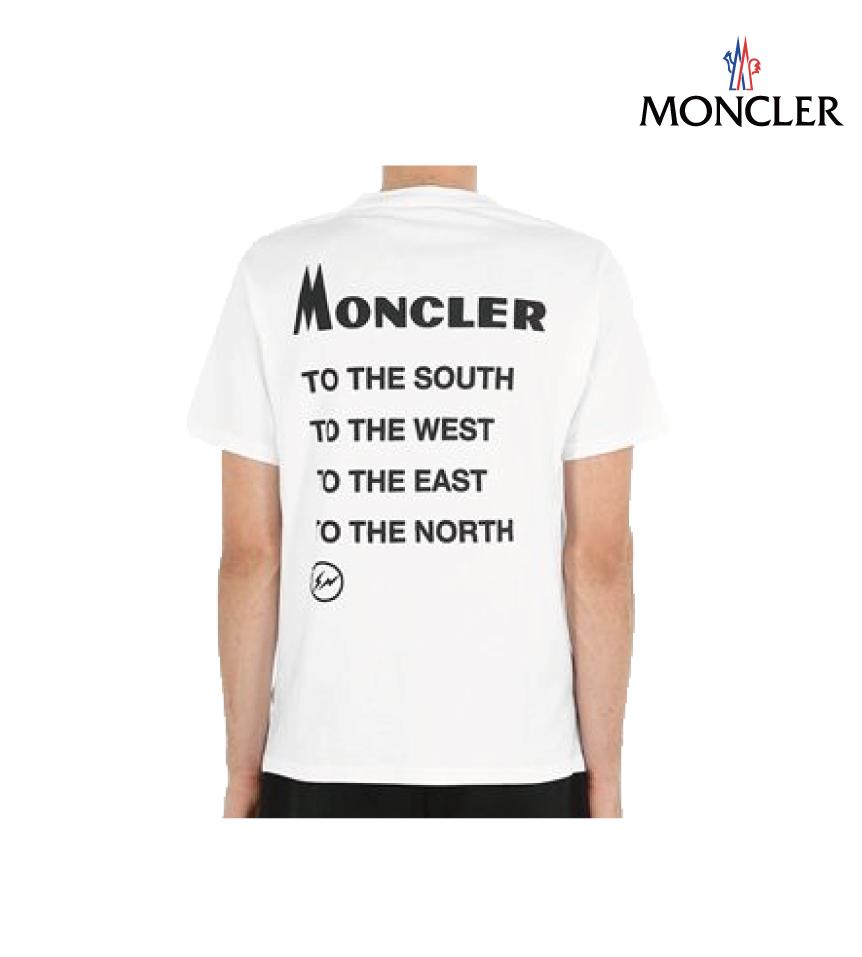 MONCLER モンクレール 7 MONCLER Genius コレクション コットンジャージー Tシャツ メンズ ホワイト 2018-2019年秋冬