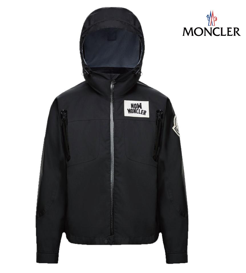 MONCLER モンクレール DOUSSAIN 2 MONCLER 1952 ロゴ コットン/ポリエステル ジャケット メンズ ブラック ジャケット 2019年春夏