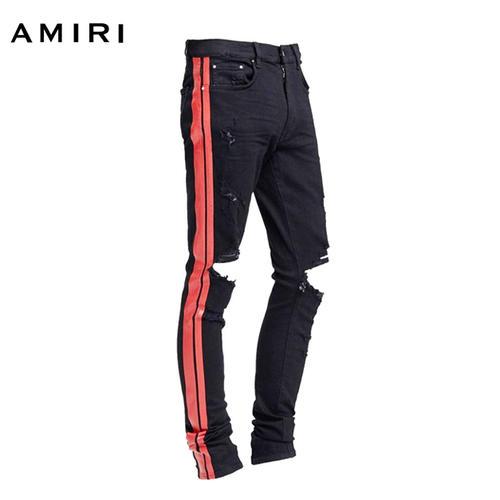 AMIRI アミリ 2018年春夏新作 TRACK JEAN BLACK/RED