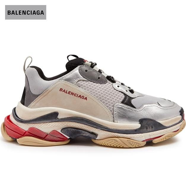 BALENCIAGA バレンシアガ 2018年春夏 Triple S low-top trainers athletic shoes Metallic-silver