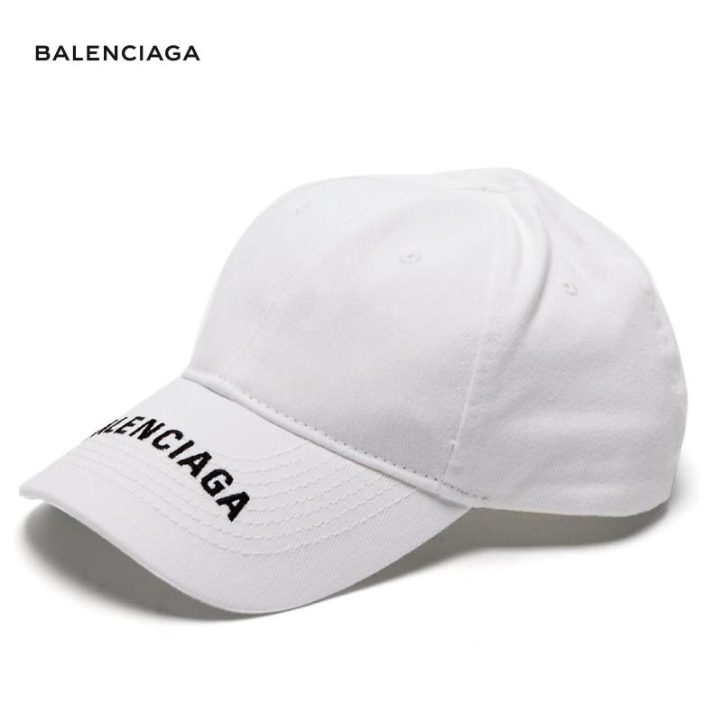 BALENCIAGA バレンシアガ 2018年春夏 Logo-embroidered cotton cap ホワイト