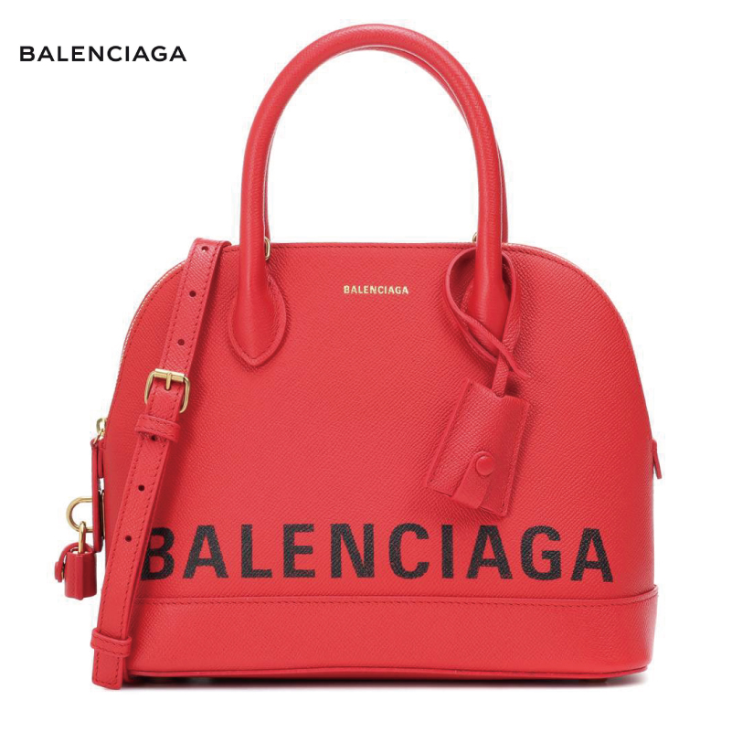 BALENCIAGA バレンシアガ Ville S leather tote バッグ レッド 2018-2019年秋冬