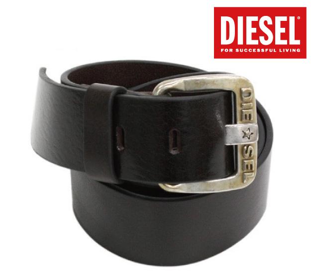 DIESEL ディーゼル 2015年春夏新作 メタル ロゴ ヴィンテージ 加工 レザー ベルト