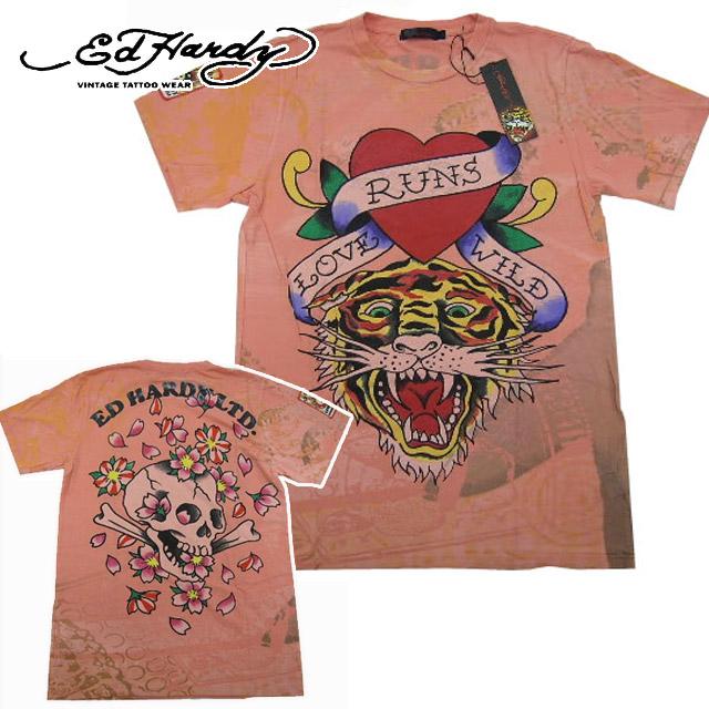 【11%OFF!!】[Ed Hardy]エドハーディー 2011年春夏新作 メンズ ロゴプリント Tシャツ