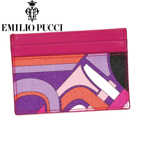 EMILIO PUCCI エミリオプッチ カードケース PORTA CARTA CREDITO 46SG05 ピンク