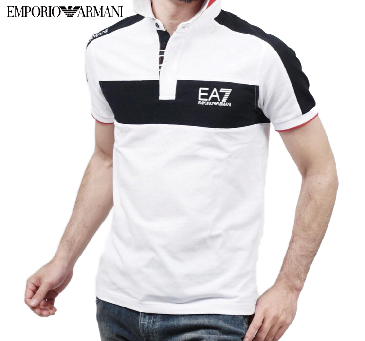 new appearance 2019 discount sale select for best An EMPORIO ARMANI Emporio Armani mens EA7 polo shirt black & white & red  00010 273788 5 p 111