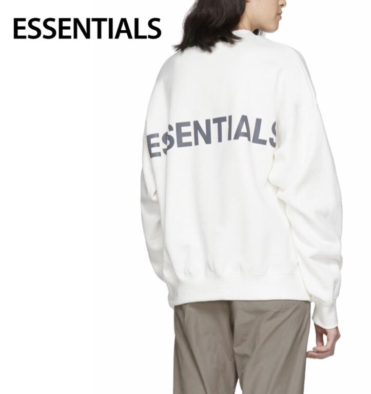ESSENTIALS Fleece Reflective Sweat-shirt Ladys Tops Off White 2020SS エッセンシャルズ フリース リフレクティブ スウェットシャツ レディース トップス オフホワイト 2020年春夏新作