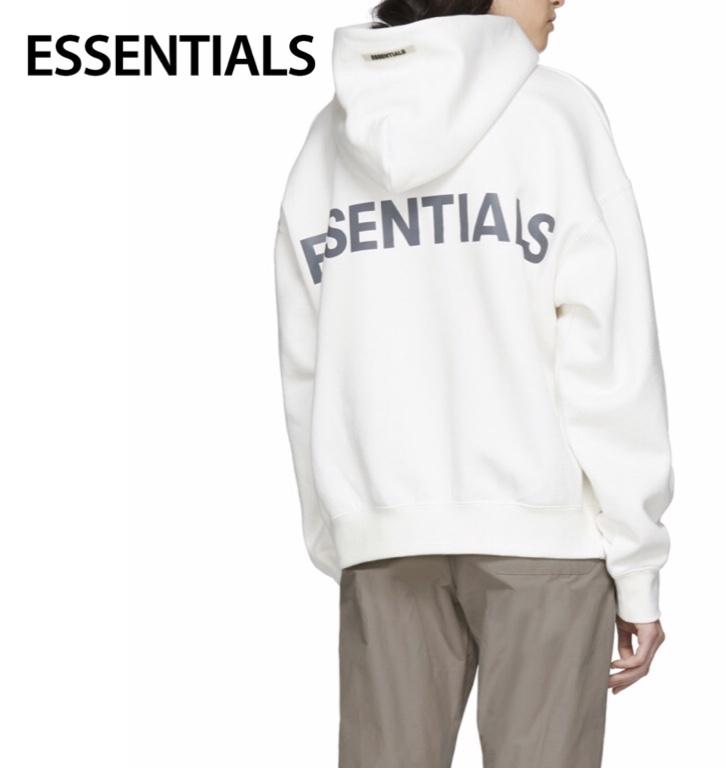 ESSENTIALS Reflective Logo Hoodie Ladys Tops White 2020SS エッセンシャルズ リフレクティブ ロゴ パーカー レディース トップス ホワイト 2020年春夏新作