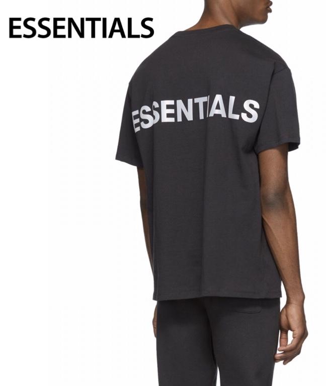 ESSENTIALS Reflective Logo T-shirt Mens Tops Black 2020SS エッセンシャルズ リフレクティブ ロゴ Tシャツ メンズ トップス ブラック 2020年春夏新作