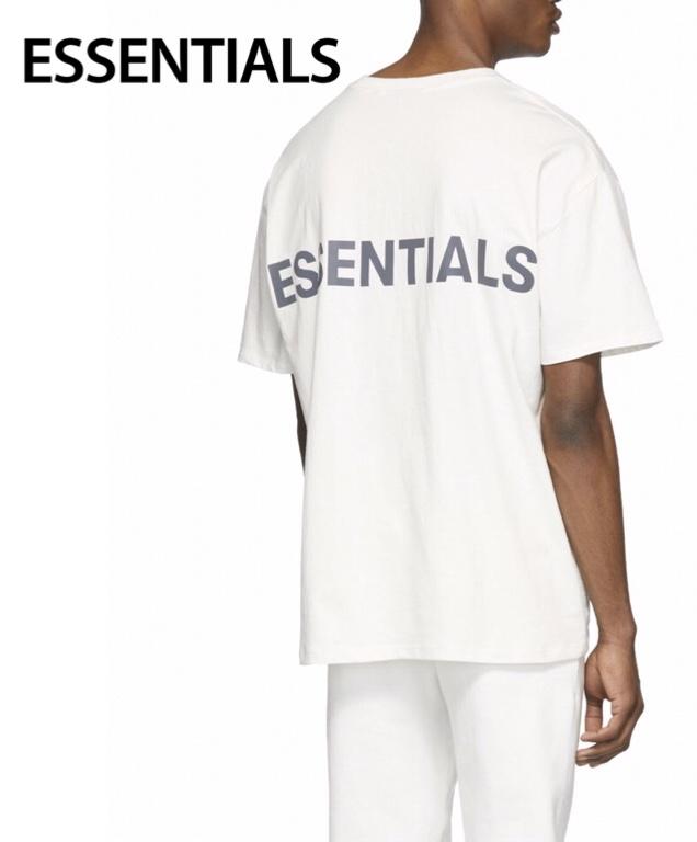 ESSENTIALS Reflective Logo T-shirt Mens Tops White 2020SS エッセンシャルズ リフレクティブ ロゴ Tシャツ メンズ トップス ホワイト 2020年春夏新作