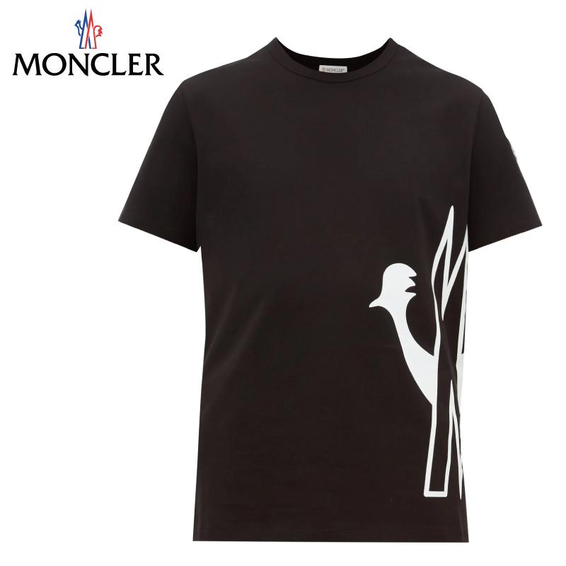 MONCLER モンクレール Logo-print cotton T-SHIRT Tシャツ ブラック メンズ 2019-2020年秋冬