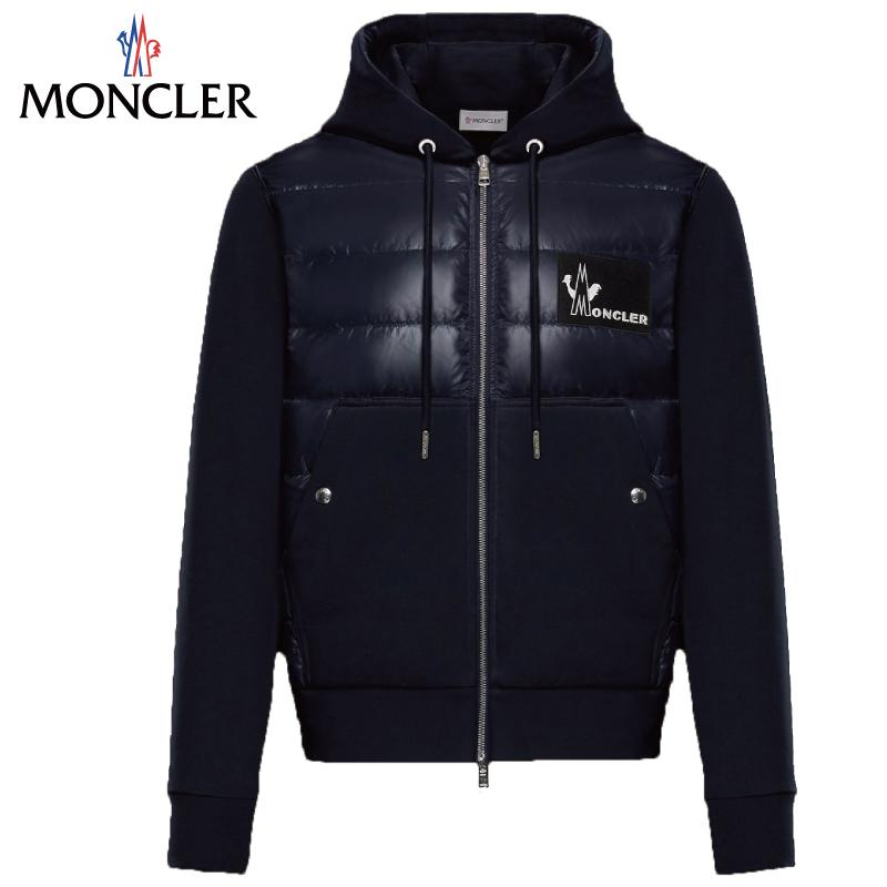 MONCLER モンクレール パッド入りスウェット パーカー メンズ ダークブルー 2019-2020年秋冬 2019AW