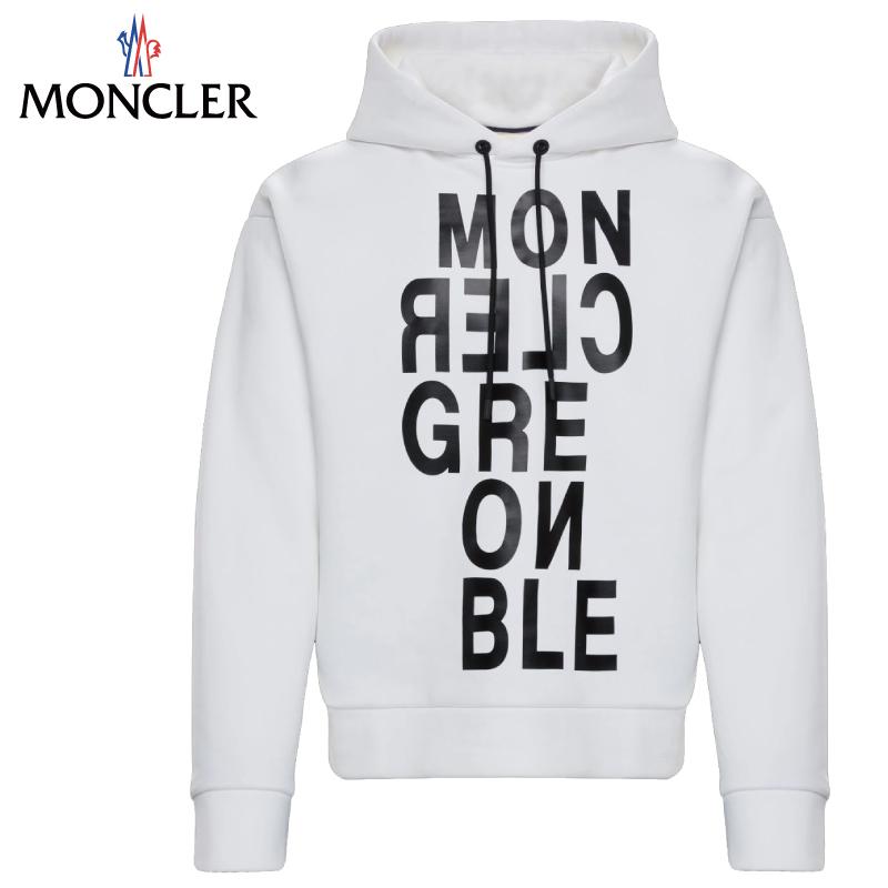 MONCLER モンクレール SWEAT-SHIRT パーカー メンズ ホワイト 2019-2020年秋冬 2019AW