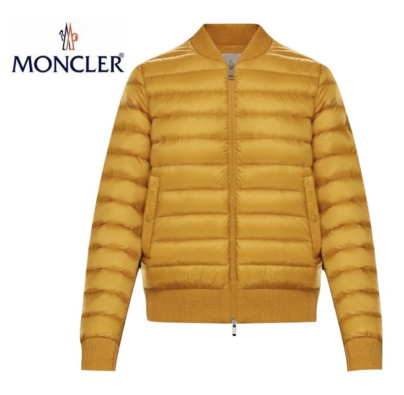【海外限定・日本未入荷カラー】MONCLER ABRICOT Ocre Yellow Ladys Bomber Jacket Outer 2020SS モンクレール イエロー レディース ボンバージャケット アウター 2020年春夏新作