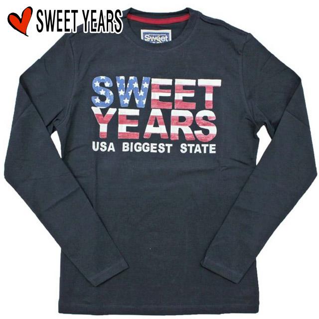 【5%OFF!!】[Sweet Years]スウィートイヤーズ 2012-2013年秋冬新作 USA ロゴ 長袖Tシャツ
