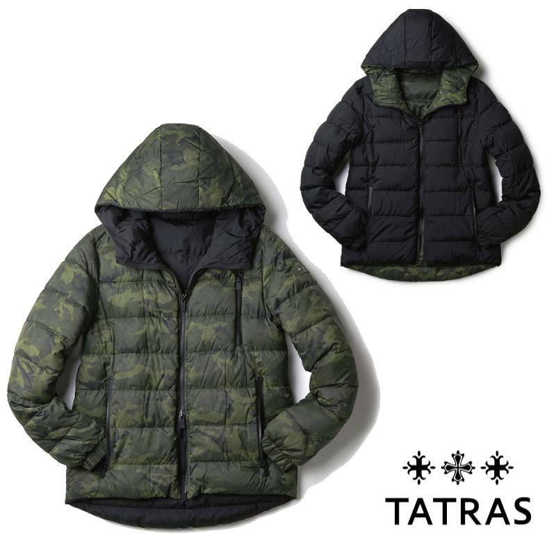 TATRAS タトラス 2017-2018年秋冬新作 メンズ ダウンジャケット ブルゾン カーキカモフラ ブラック MTA17A4461【送料無料】