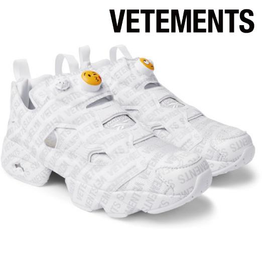 Vetements ヴェトモン 2017-2018年秋冬新作 Reebok Logo Instapump Fury Sneakers スニーカー シューズ