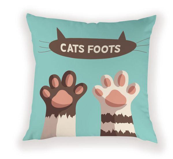 ついに入荷 肉球かわいいクッションカバーです 猫 猫の手 肉球 クッション カバー かわいい おしゃれ インテリア グッズ アニマル ねこ 店 ネコ 雑貨 動物