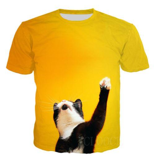 ガッツポーズ猫 泣く猫がかわいいTシャツです 猫 猫柄 Tシャツ おもしろ かわいい 新品 個性的 ネコ 雑貨 トップス 引出物 グッズ メンズ ねこ
