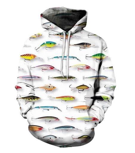 【送料無料】魚 魚柄 パーカー プルオーバー 釣り メンズ ランニングウェア ユニーク おもしろ かわいい