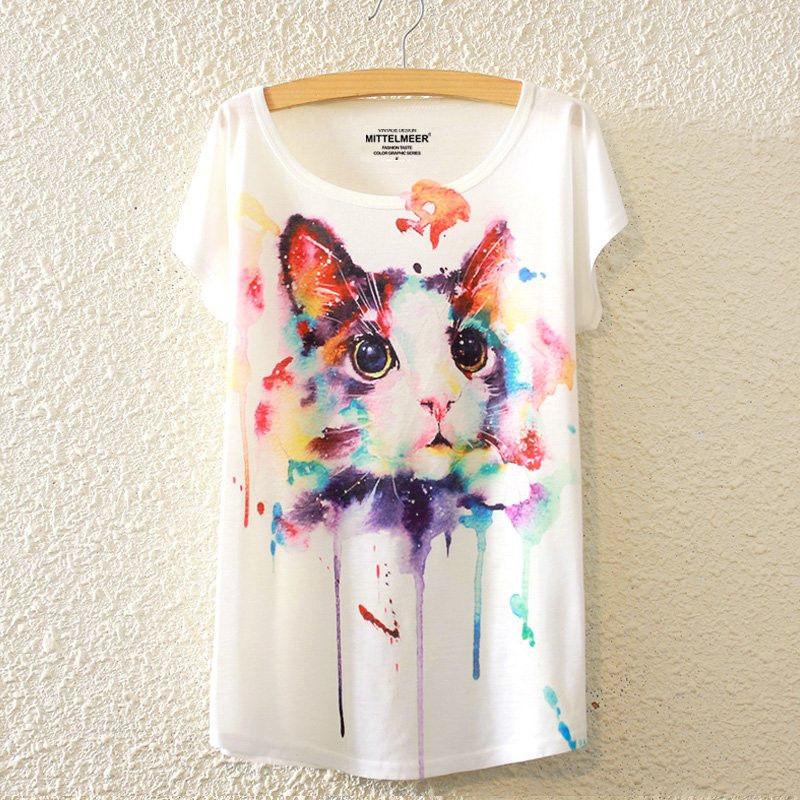 楽天市場送料無料猫 Tシャツ 猫柄 レディース イラスト かわいい