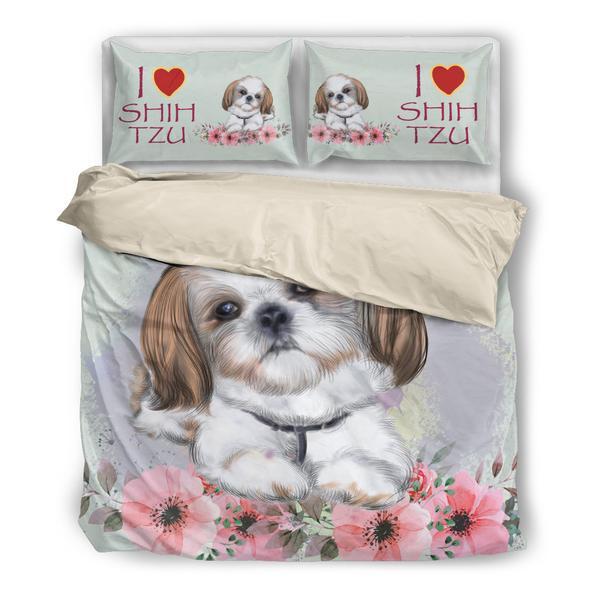 犬 犬柄 シーズー かわいい 布団 カバー 枕 クッション ホーム雑貨 いぬ イヌ 雑貨 グッズ