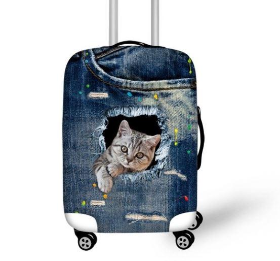 ユニークでかわいいラゲッジカバーです 猫 猫柄 オンライン限定商品 ラゲッジ スーツケース カバー 至高 ユニーク