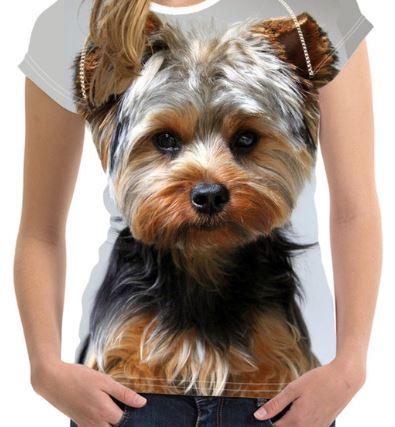 ユニークでかわいいヨーキーTシャツです 送料無料 2020新作 犬 ヨーキー ヨークシャテリア Tシャツ 日本限定 レディース トップス イヌ グッズ いぬ リアル 個性的 かわいい 雑貨 ユニーク