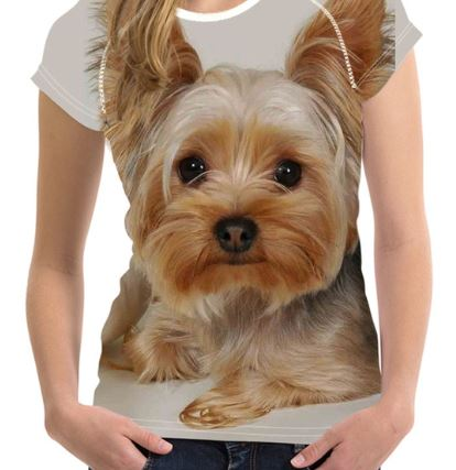 ユニークでかわいいヨーキーTシャツです 送料無料 売れ筋ランキング 犬 ヨーキー ヨークシャテリア Tシャツ レディース トップス 雑貨 ユニーク 返品不可 グッズ 個性的 いぬ かわいい リアル イヌ