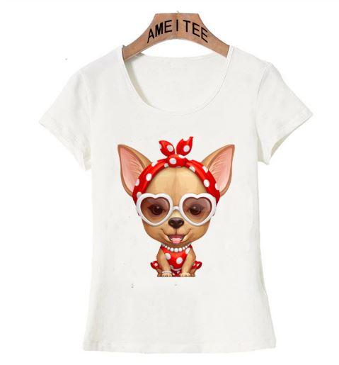 個性的なチワワのデザインがかわいいTシャツです 送料無料 犬 犬柄 チワワ Tシャツ レディース かわいい 雑貨 日本産 イヌ ユニーク いぬ おしゃれ グッズ ファッション 贈り物