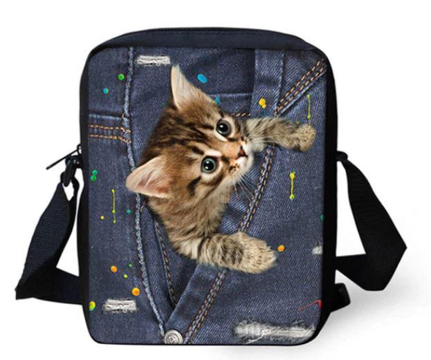 ユニークな猫のデザインのショルダーポーチです 猫 猫柄 ショルダーバッグ ブランド品 ポーチ バッグ メッセンジャーバッグ 雑貨 かわいい デザイン グッズ ねこ セール 登場から人気沸騰 ネコ