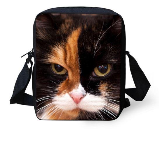 ユニークな猫のデザインのショルダーポーチです 猫 定番キャンバス 猫柄 ショルダーバッグ 新発売 ポーチ バッグ メッセンジャーバッグ ネコ グッズ 雑貨 ねこ デザイン かわいい