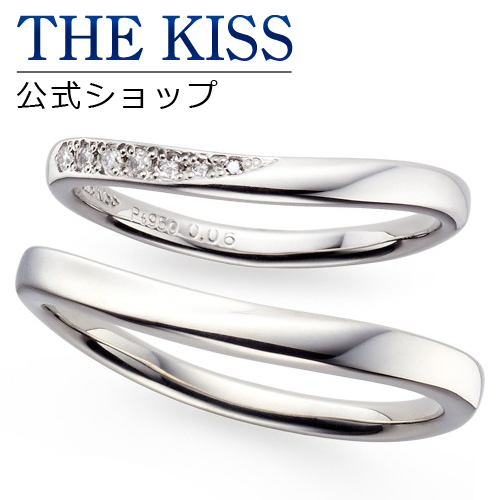 【刻印可_14文字】【THE KISS Anniversary】 プラチナ マリッジ リング 結婚指輪 ペアリング THE KISS ザキッス リング・指輪 7061116051-7061116052 セット シンプル v ザキス 【送料無料】