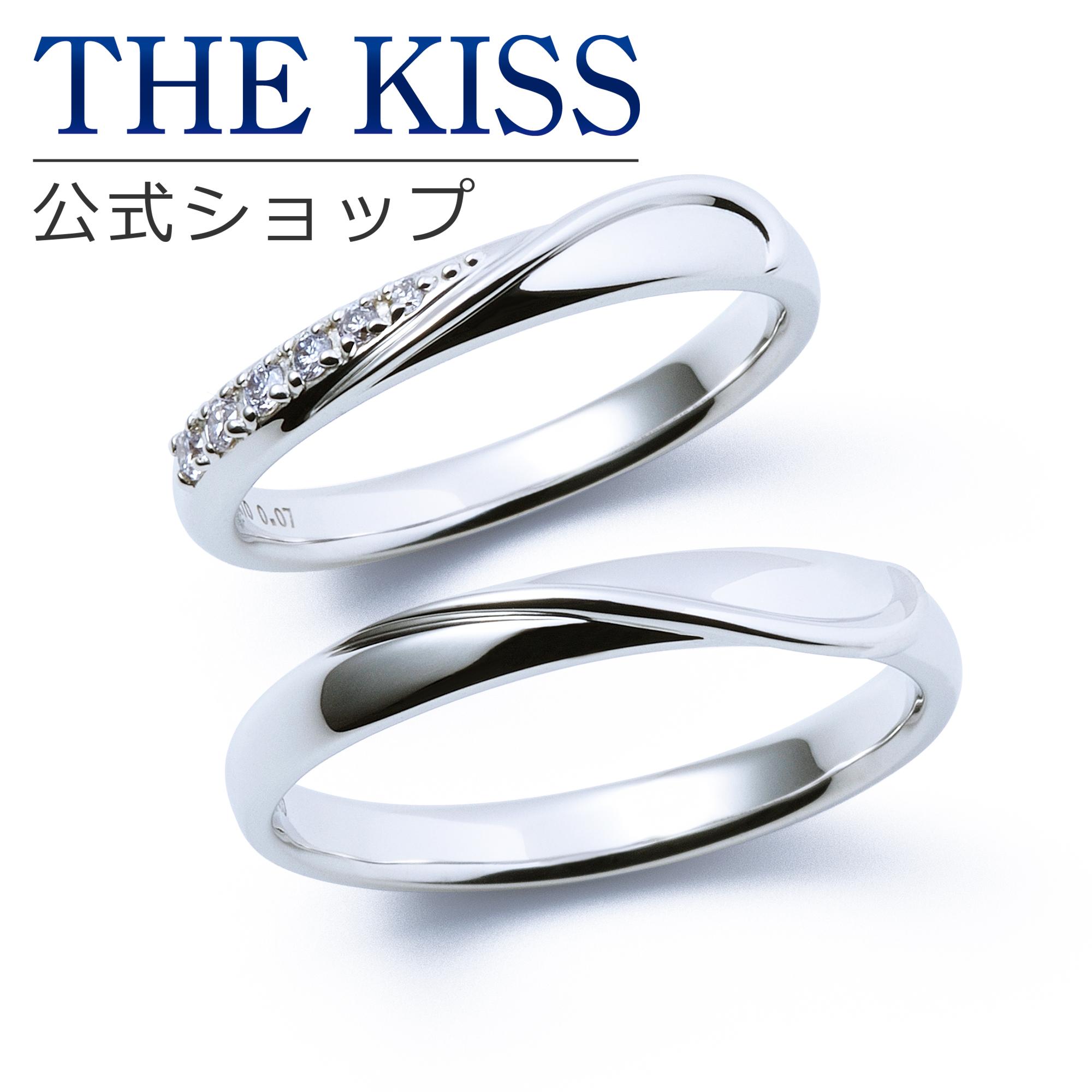 マリッジリング SALE開催中 結婚指輪 ペアリング 指輪 THEKISS ザキス ペアアクセサリー 記念日 誕生日 プレゼント 毎日がバーゲンセール 刻印可_7文字 THE KISS 送料無料 マリッジ ザキッス ホワイトゴールド シンプル K10 2個セット Anniversary 男性 セット 7621122011-7621122012 リング 女性