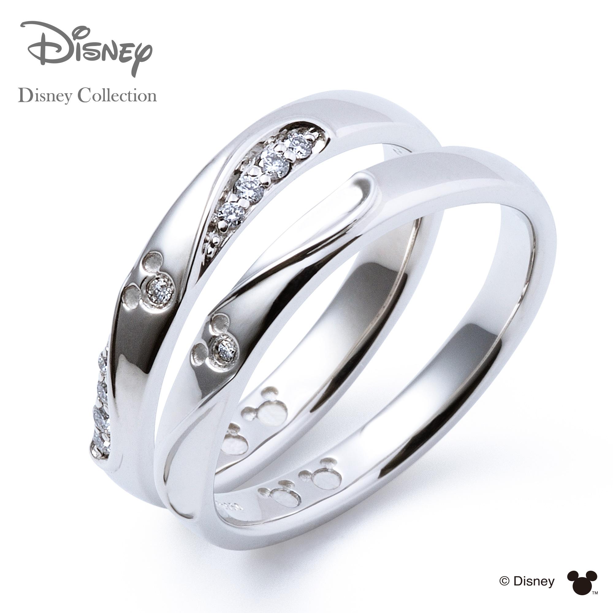【刻印可_14文字】【ディズニーコレクション】 ディズニー / プラチナ マリッジ リング 結婚指輪 / 隠れミッキーマウス / ペアリング THE KISS リング・指輪 DI-7061104531-7061104541 セット シンプル ザキス 【送料無料】