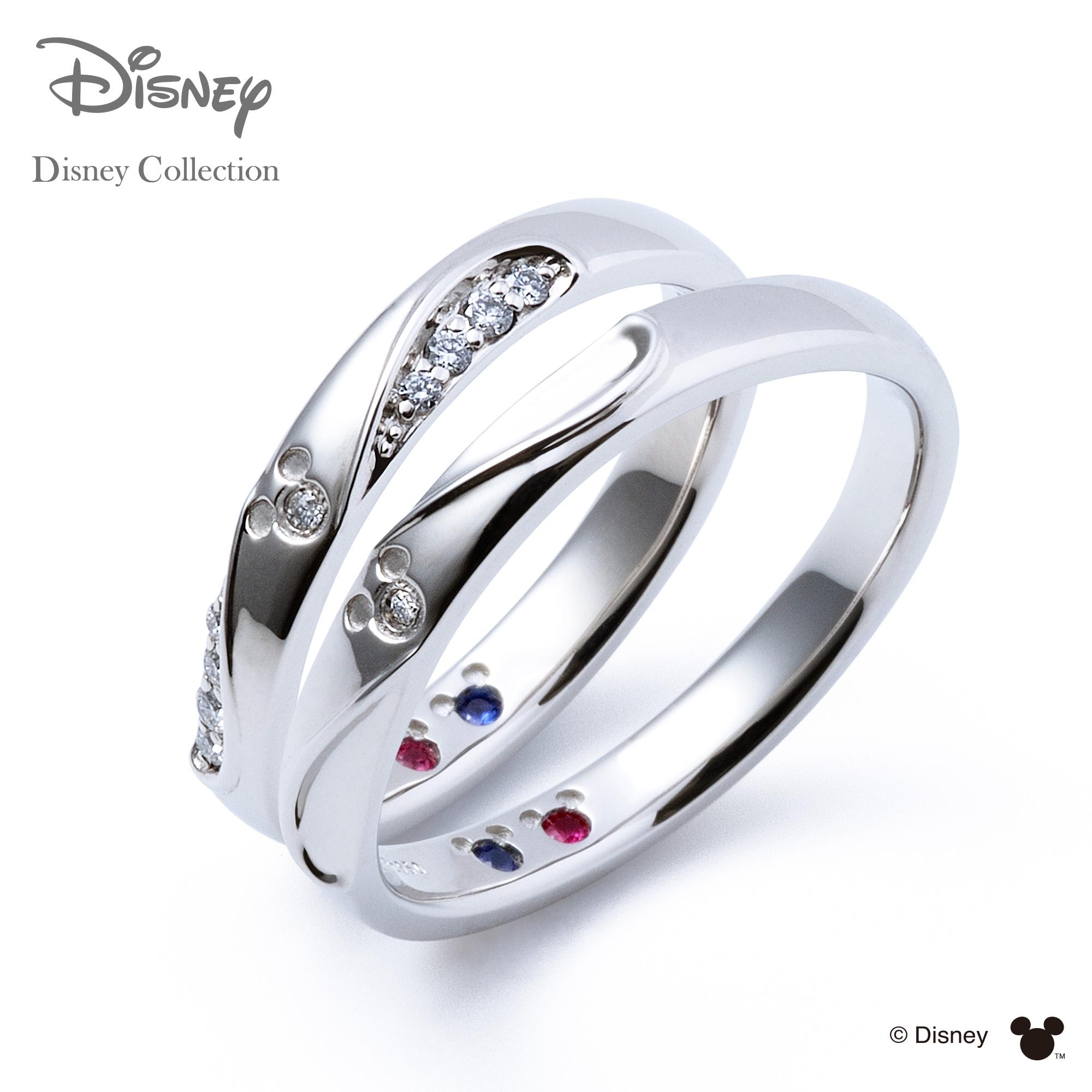 【刻印可_14文字】【ディズニーコレクション】 ディズニー / プラチナ マリッジ リング 結婚指輪 / 隠れミッキーマウス / ペアリング THE KISS リング・指輪 誕生石 DI-7061104532-7061104542 セット シンプル ザキス 【送料無料】