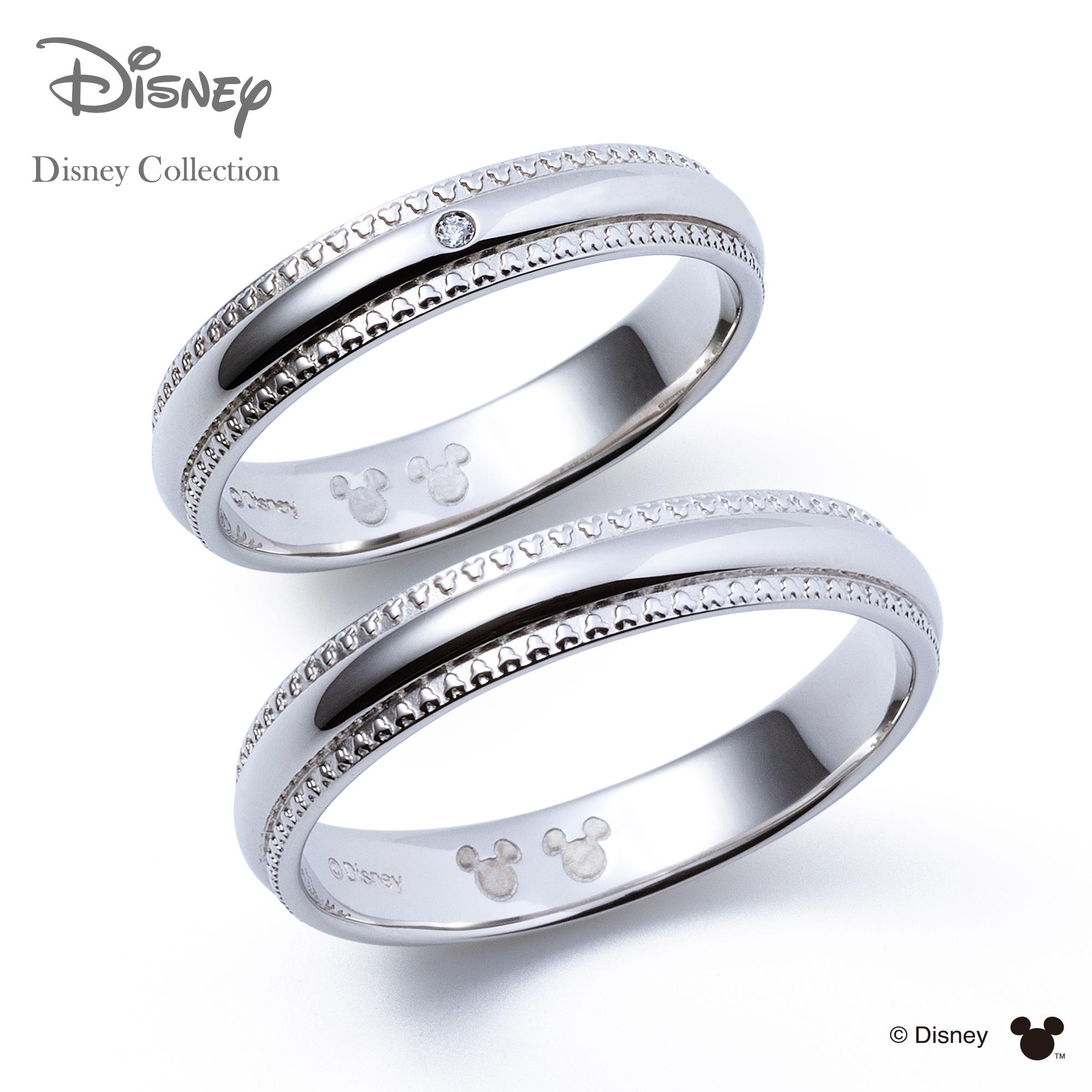 【刻印可_14文字】【ディズニーコレクション】 ディズニー / プラチナ マリッジ リング 結婚指輪 / 隠れミッキーマウス / ペアリング THE KISS リング・指輪 DI-7061108011-7061108021 セット シンプル ザキス 【送料無料】
