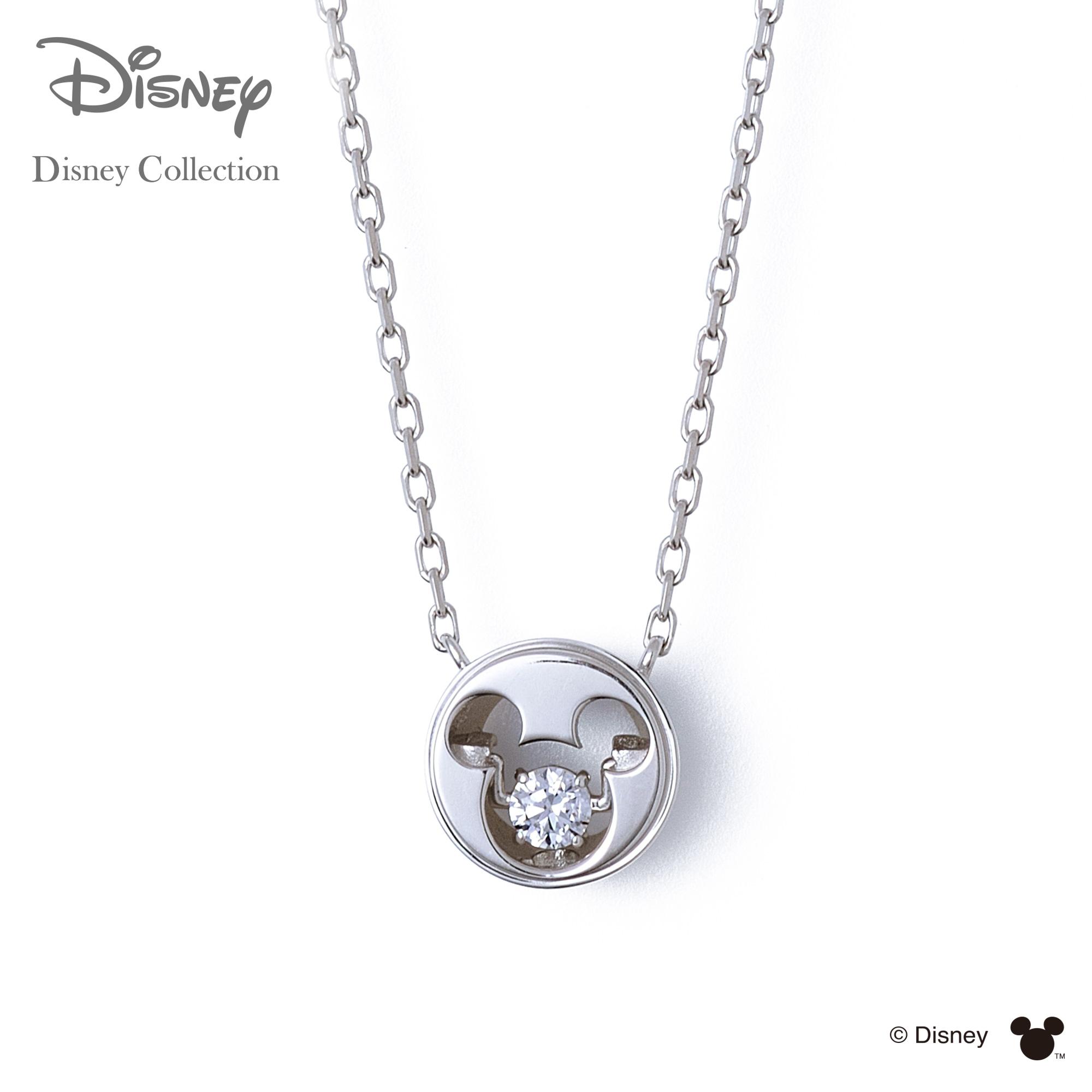 【あす楽対応】【ディズニーコレクション】 ディズニー / ネックレス / 隠れミッキーマウス / THE KISS ネックレス・ペンダント シルバー ( レディース ) DI-SN1405CB 【送料無料】