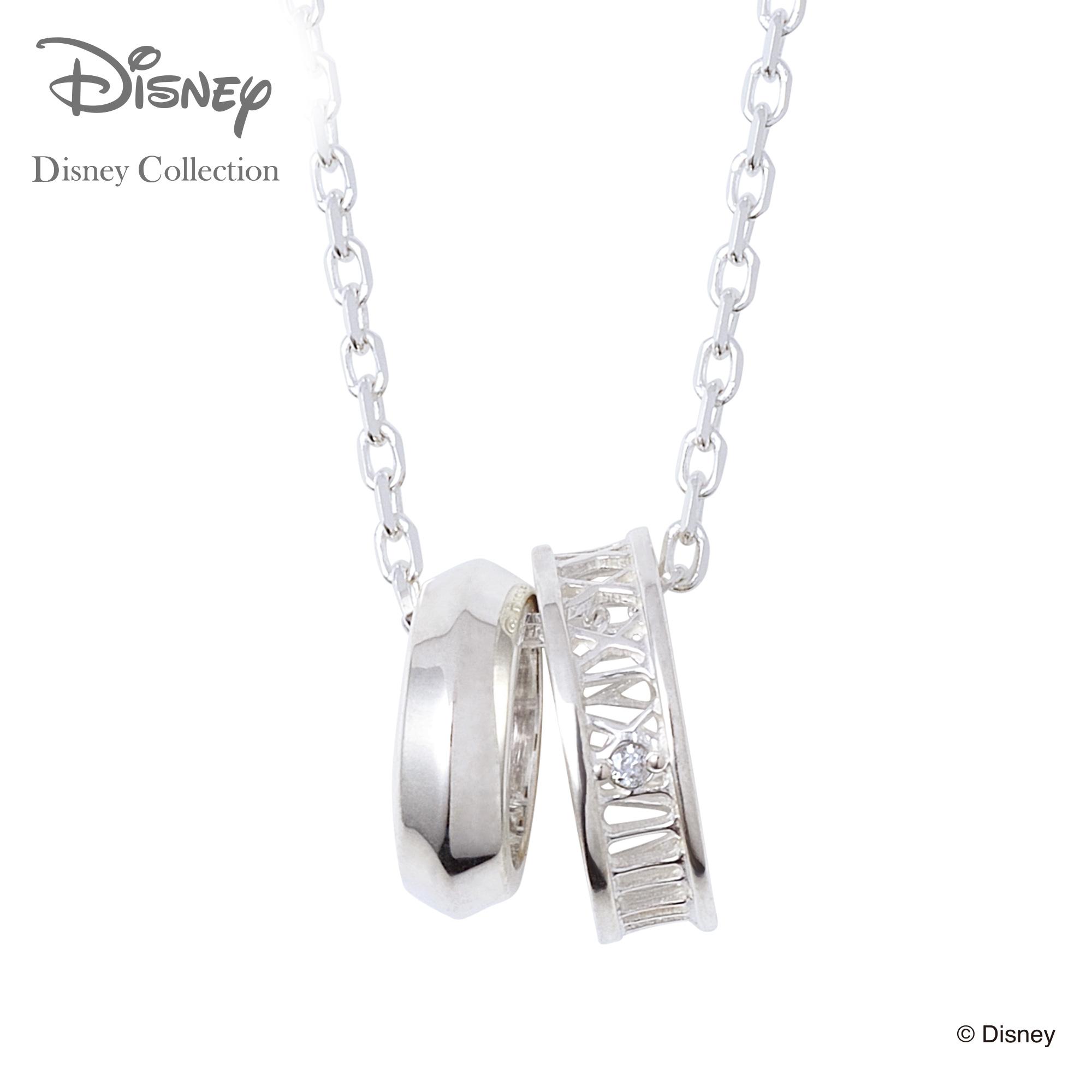 【あす楽対応】【ディズニーコレクション】 ディズニー / ネックレス / ディズニープリンセス シンデレラ / THE KISS ペア ネックレス・ペンダント シルバー (メンズ 単品) DI-SN716DM ザキス 【送料無料】