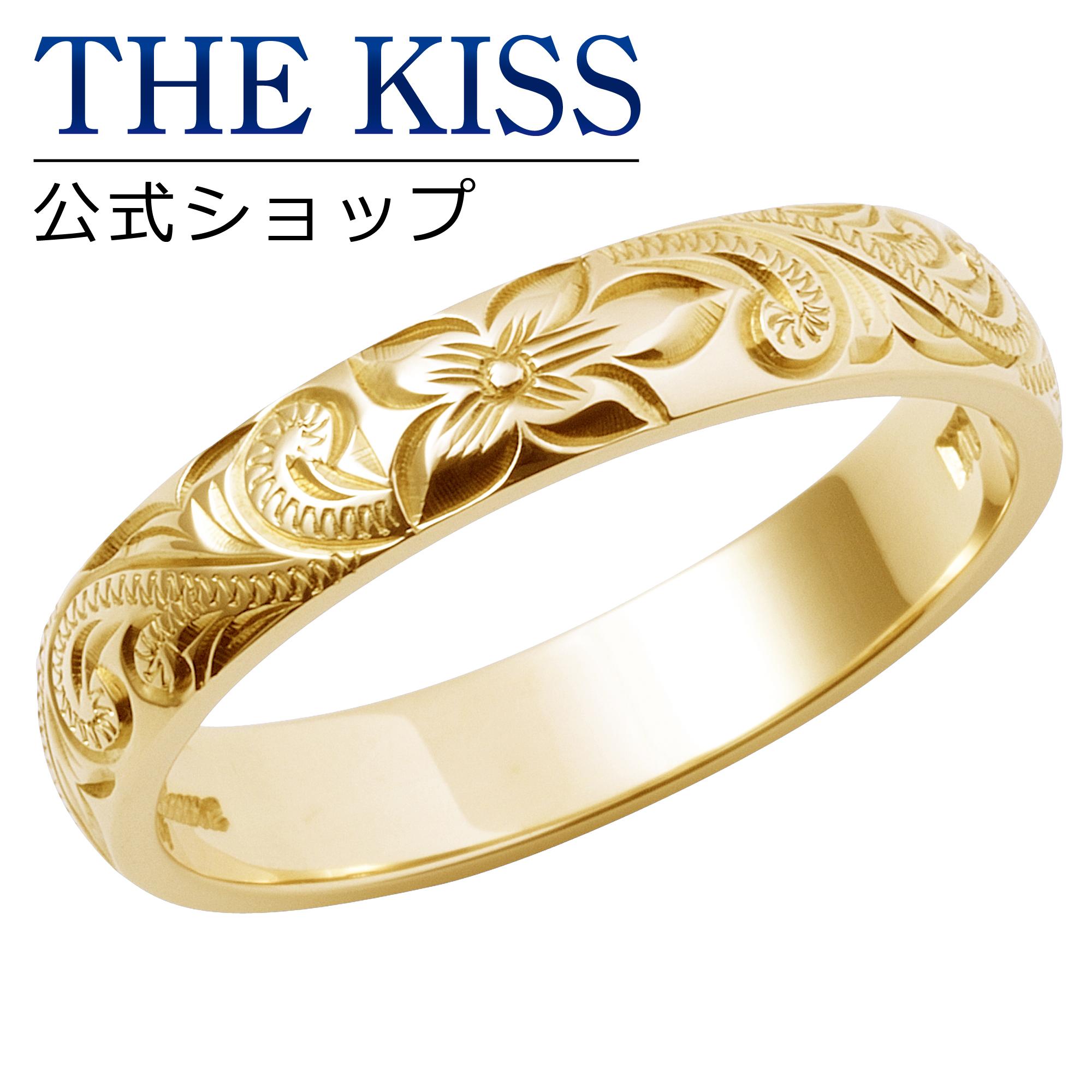 【刻印可_10文字】【Kahuna】 K10イエローゴールド マリッジリング ハワイアンジュエリー Fancy Scroll ファンシースクロール 結婚指輪 ペアリング ( メンズ 単品 ) THE KISS ザキッス リング・指輪 50W-RB-32-220-YG シンプル ザキス 【送料無料】