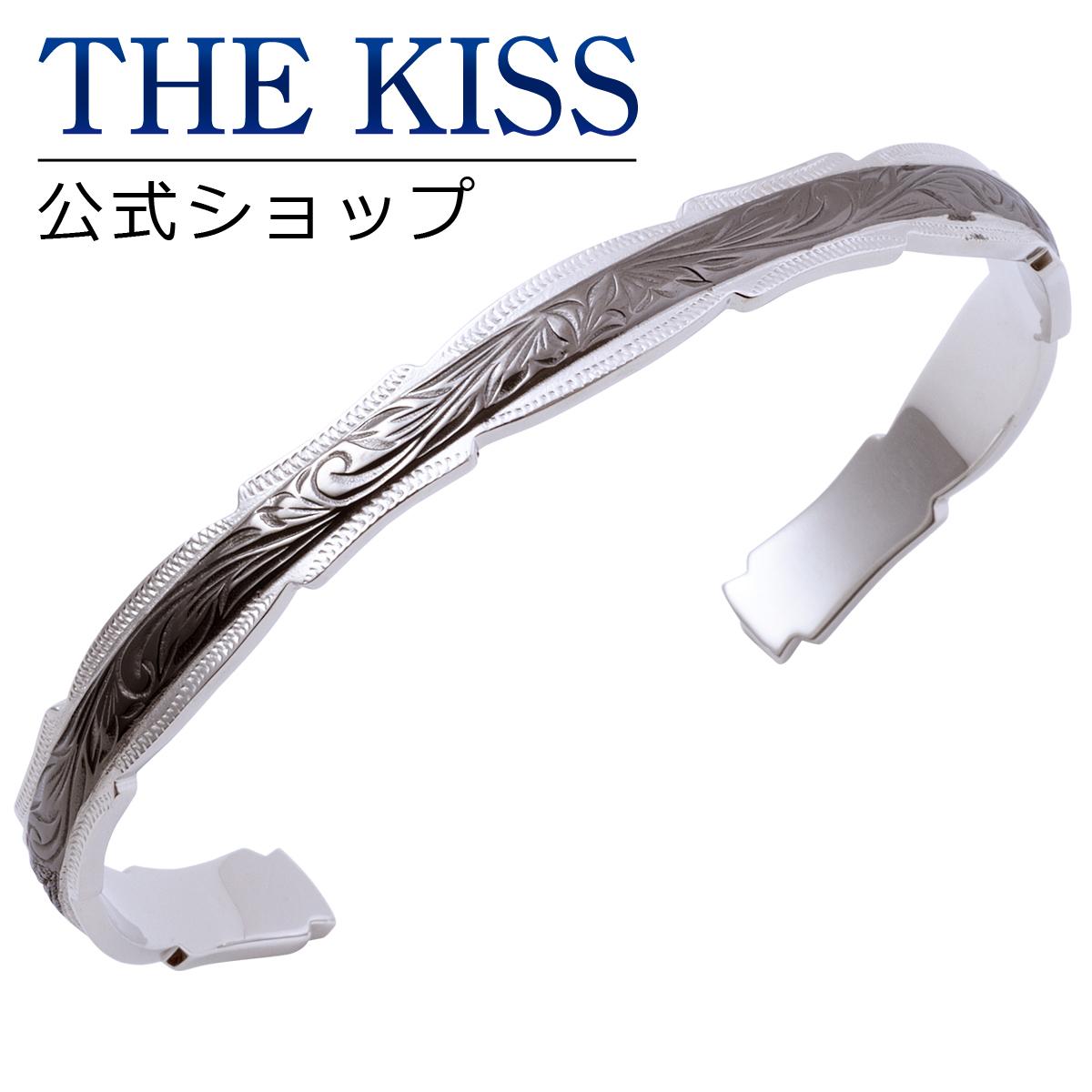 【あす楽対応】THE KISS 公式サイト ステンレス ハワイアン ペアバングル (メンズ 単品) ペアアクセサリー カップル に 人気 の ジュエリーブランド THEKISS ペア バングル 記念日 プレゼント L-BR8014 ザキス 【送料無料】