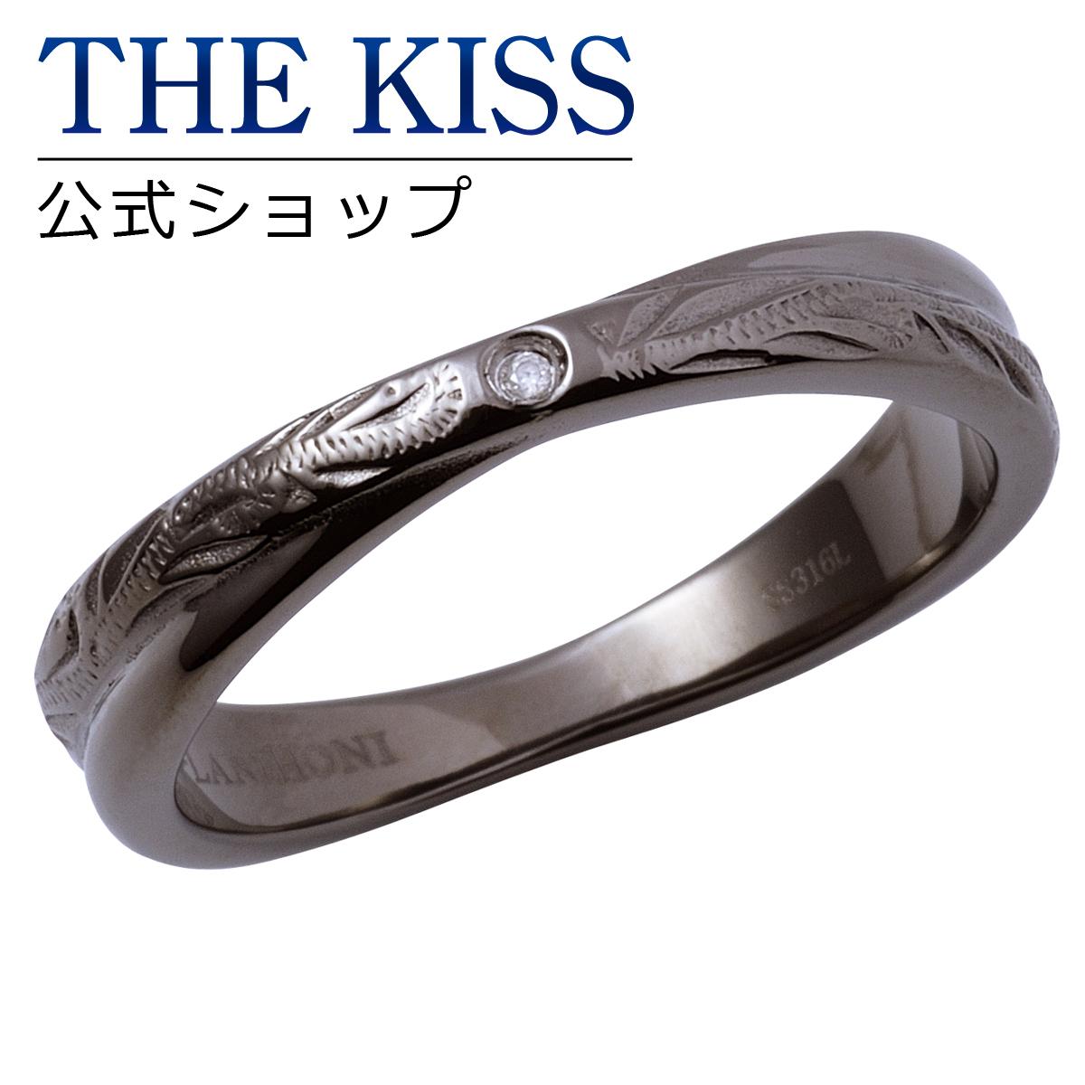 【あす楽対応】THE KISS 公式サイト ペアリング ステンレス ハワイアン ( メンズ 単品 ) ペアアクセサリー カップル に 人気 の ジュエリーブランド THEKISS ペア リング・指輪 記念日 プレゼント L-R8030DM ザキス 【送料無料】