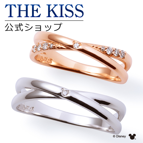 【ディズニーコレクション】 ディズニー / ペアリング / 隠れミッキーマウス / 結婚指輪 マリッジリング / THE KISS sweets リング・指輪 K10ピンクゴールド ダイヤモンド DI-PR1808DM-WR1809DM セット シンプル ザキス 【送料無料】